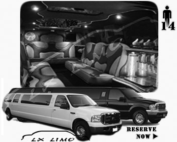 Lincoln Excursion SUV Limo for hire in Kansas City MO