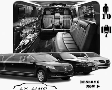 Stretch Limo airport shuttle in Kansas City