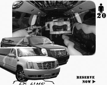 Cadillac Escalade 20 passenger SUV Limousine for rental in Kansas City MO